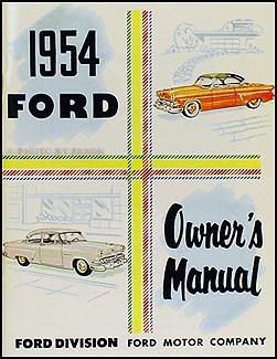 1952 1954 ford car wiring diagram manual reprint 1954 ford car owner s manual reprint