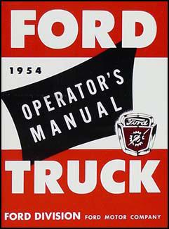 1954 ford pickup truck repair shop manual original. Black Bedroom Furniture Sets. Home Design Ideas