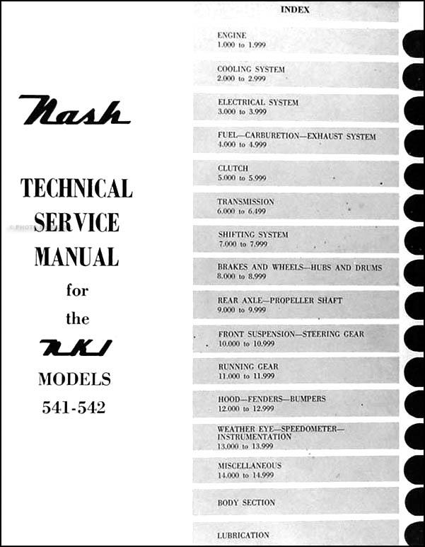 1954 Nash Metropolitan Repair Shop Manual Original