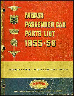 1955-1956 MoPar Parts Book Original