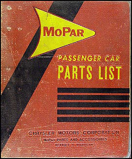 1955-1958 MoPar Parts Book Original