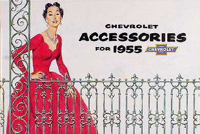 Chevy Accessory Catalog Set with Pictures and Part Nos 55 Chevrolet