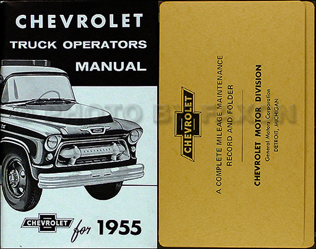 1955 chevy 2nd series truck wiring diagram manual reprint 1955 chevrolet pickup and truck 2nd series owner manual package