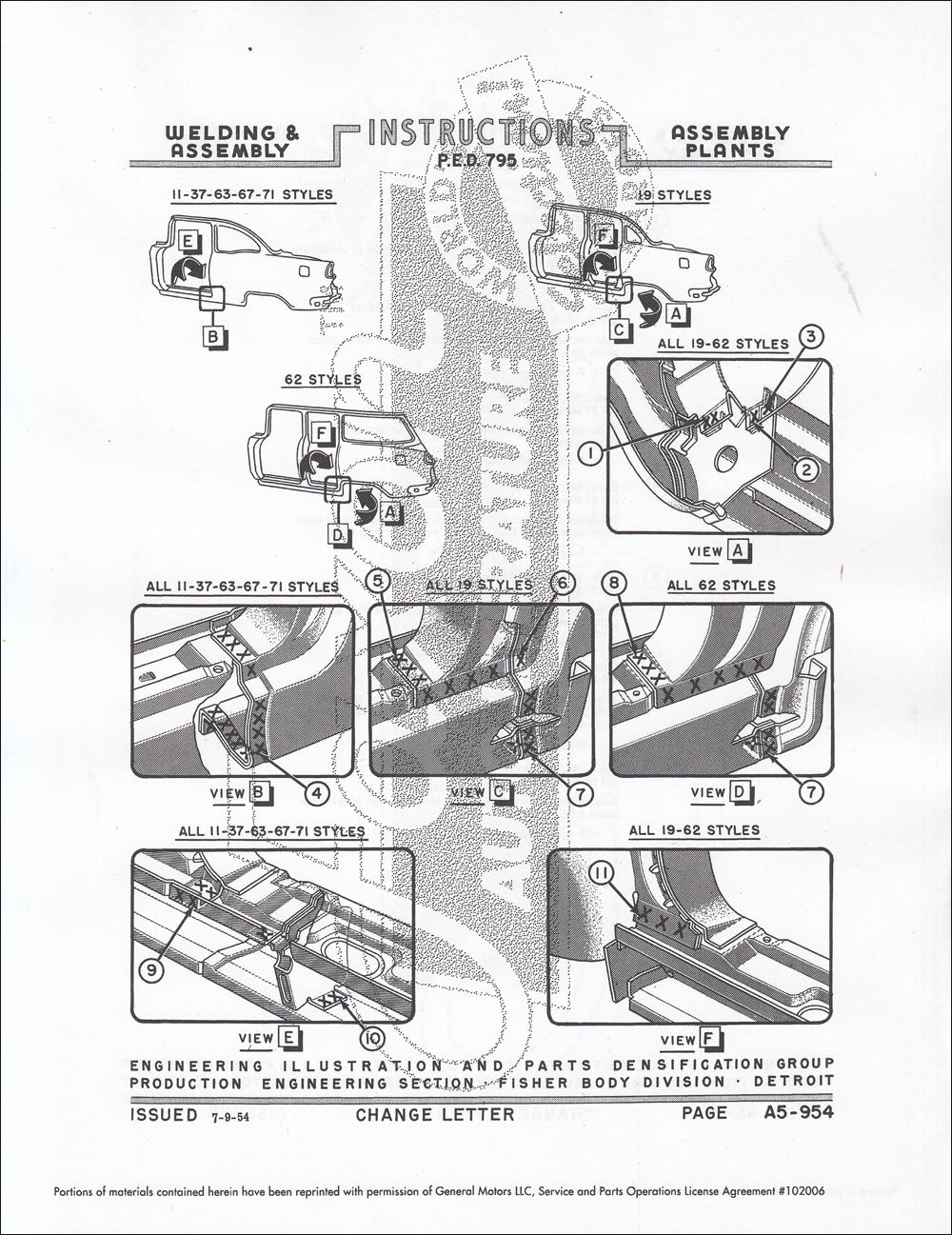 1955 chevrolet and pontiac fisher body welding assembly manual reprint rh faxonautoliterature com 1955 chevrolet shop manual 1955 chevy shop manual