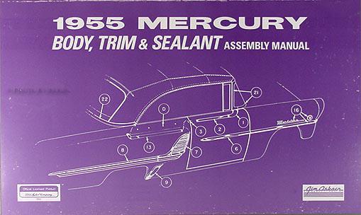 cd rom 1954 1955 mercury repair shop manual set. Black Bedroom Furniture Sets. Home Design Ideas