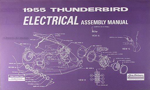 1955 Ford Thunderbird Electrical Assembly Manual Wiring