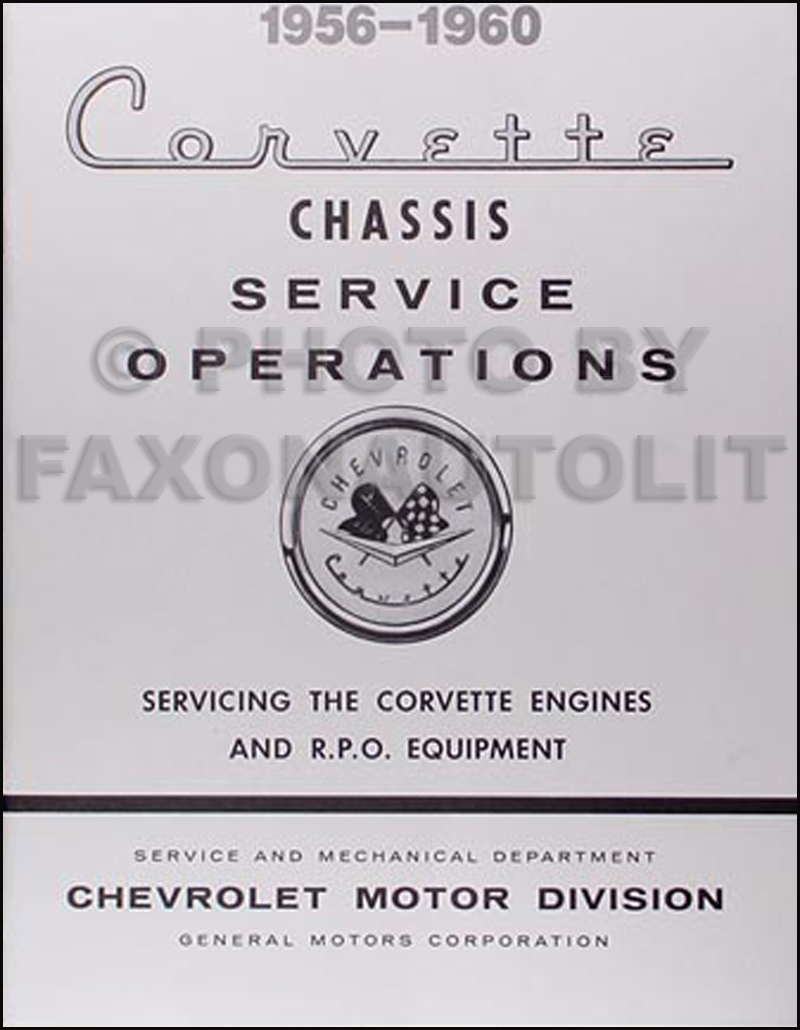 1956 1960 Corvette Engine Tune Up Rpo Service Manual Reprint Chevy Ignition Wiring Diagram