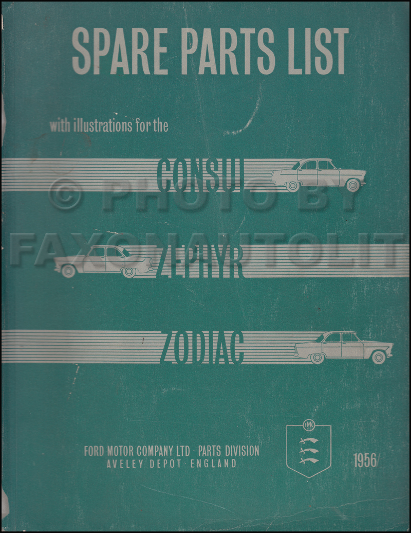 1956 1960 ford parts catalog original consul zephyr and for Consul service catalog