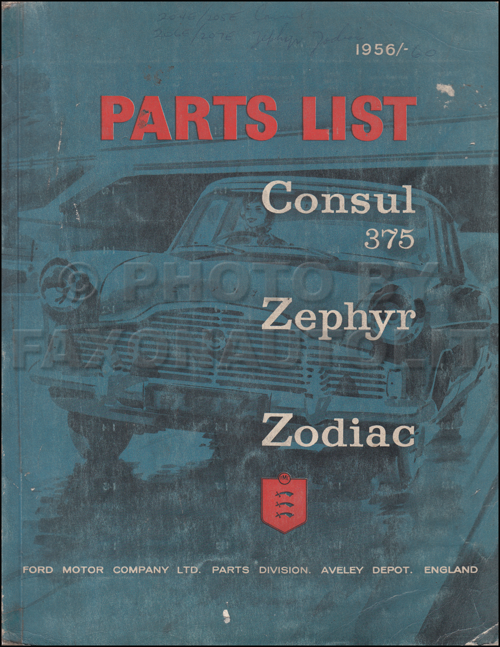 1956 1962 ford parts catalog original consul zephyr and zodiac