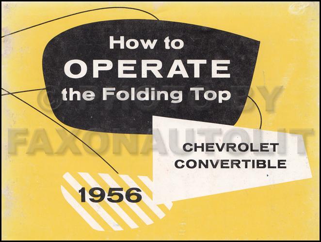 1956 Chevrolet Car Wiring Diagram Manual Reprint