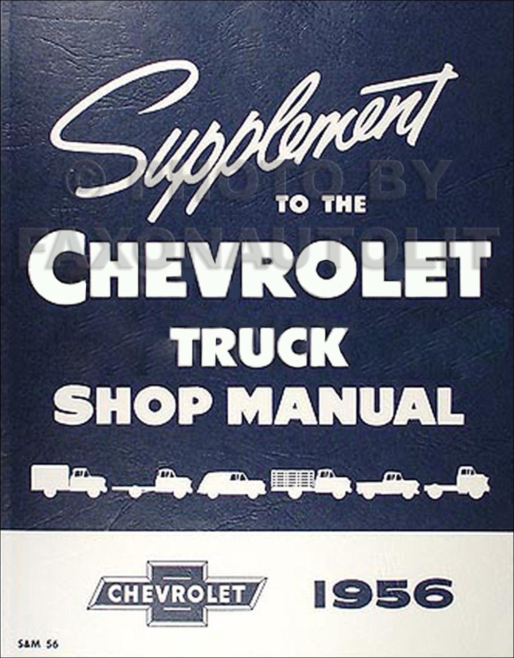 1956 chevy truck shop manual 56 pickup panel suburban heavy rh ebay com 1956 chevy shop manual 1956 chevy service manual