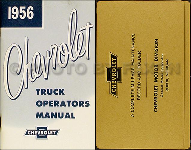 1956 Chevy Pickup  U0026 Truck Repair Shop Manual Original