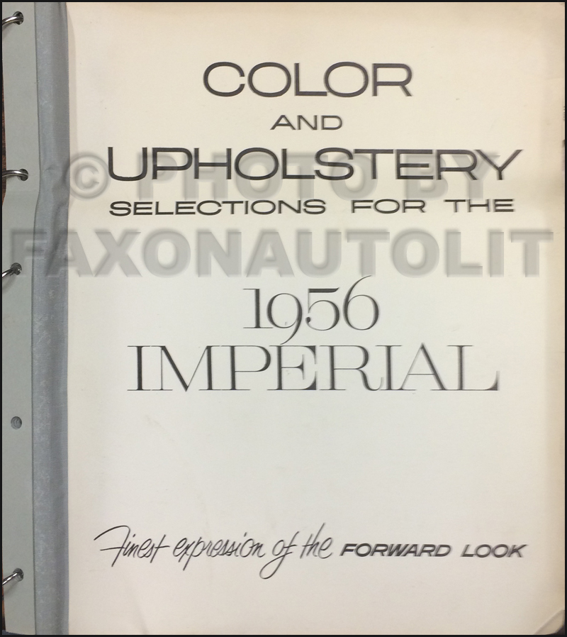 1956 Imperial Color and Upholstery Dealer Album Original
