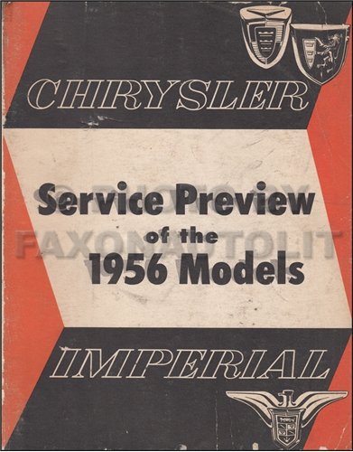 1956 Chrysler Preliminary Repair Shop Manual Original