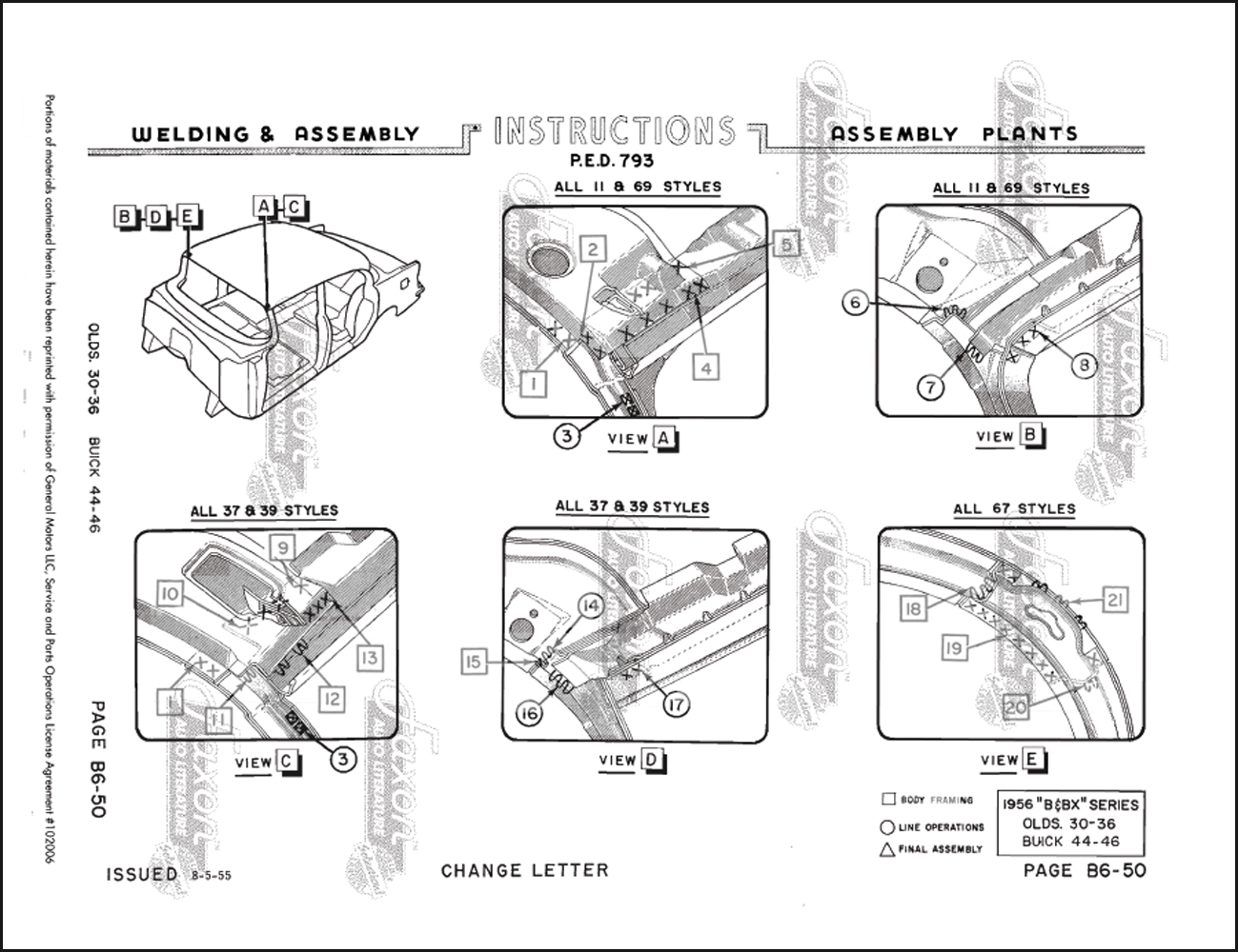 1956 body welding assembly manual reprint olds 88/98 buick special, Wiring diagram