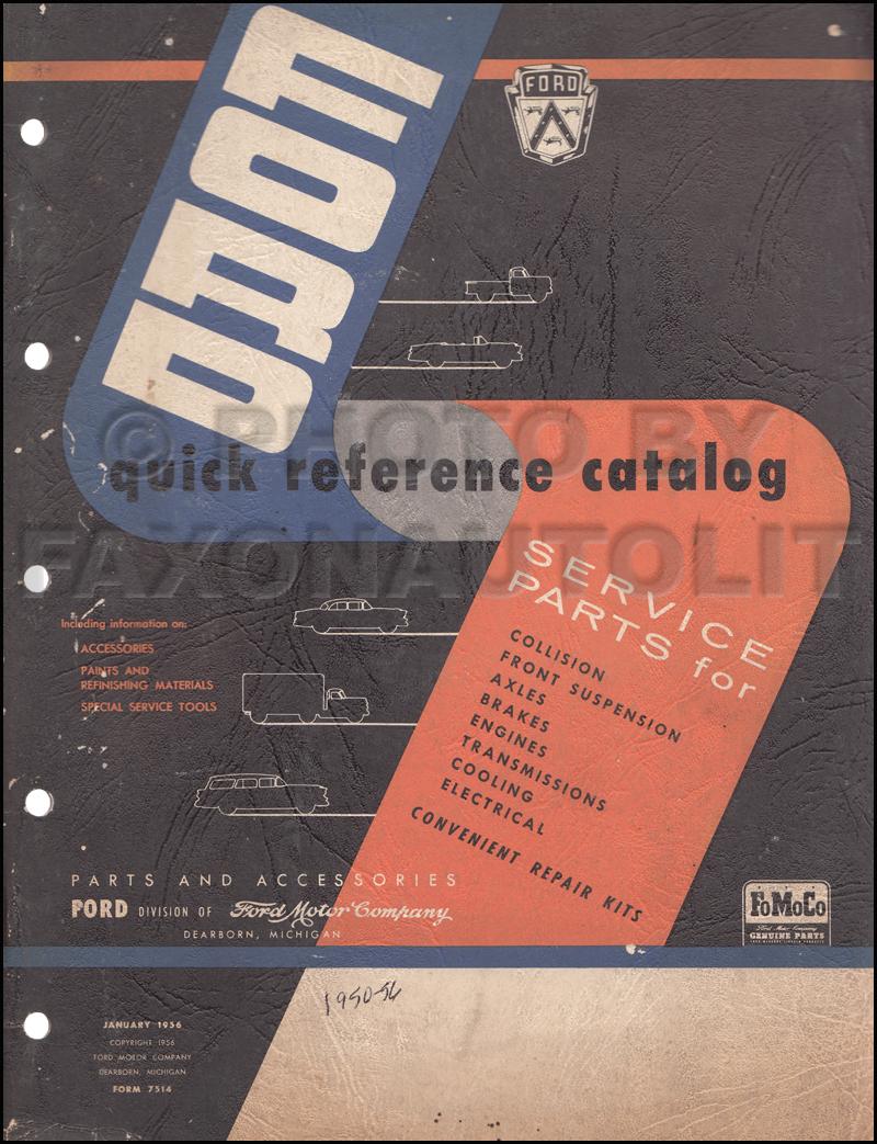 1950-1956 Ford Quick Parts Catalog Original