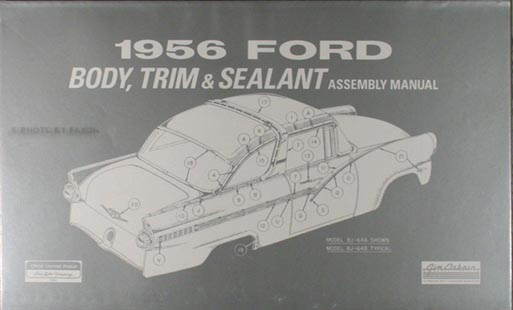 ford car thunderbird wiring diagram manual reprint 1956 ford car body and interior reprint assembly manual