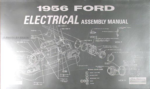 1956 Ford Car  U0026 Thunderbird Wiring Diagram Manual Reprint