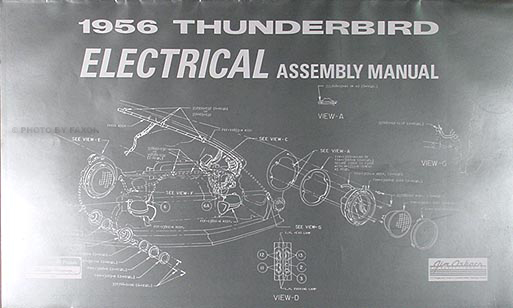 1957 ford fairlane wiring diagram 1956 thunderbird electrical assembly manual 56 t bird ... 56 ford fairlane wiring diagram