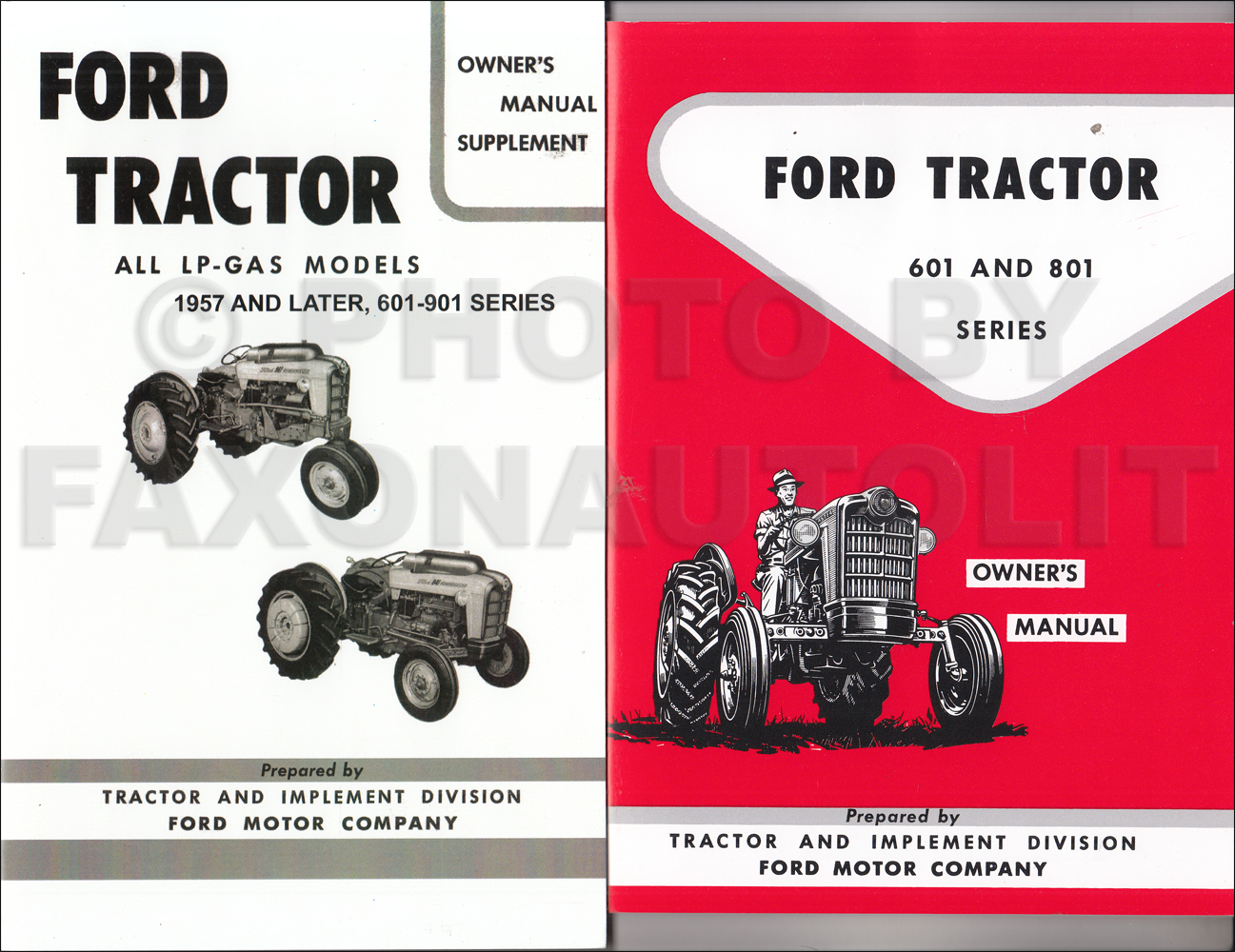ford tractor illustrated master parts catalog