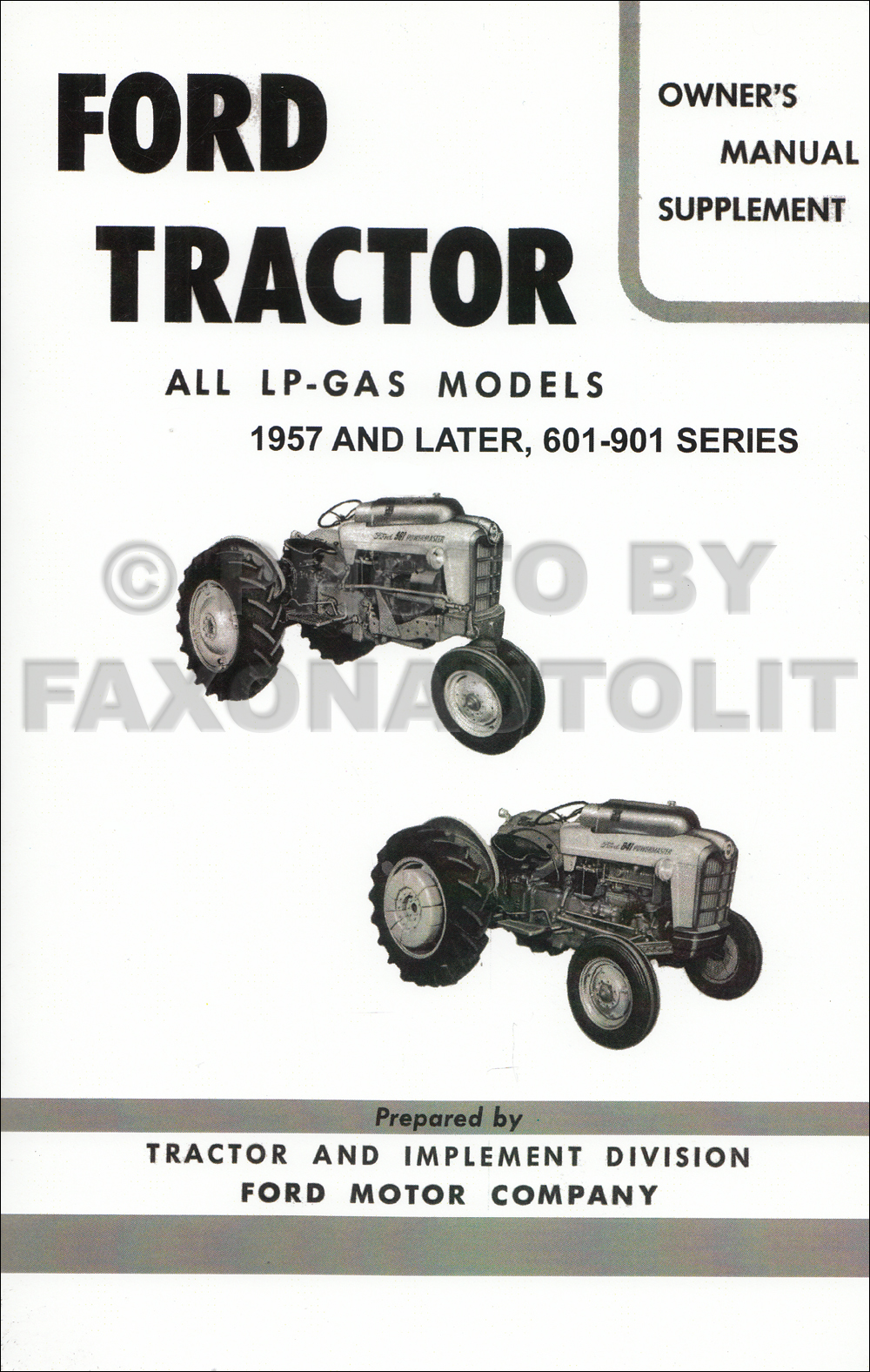 Manuals Ford Tractor Poster 1932-1986 Media