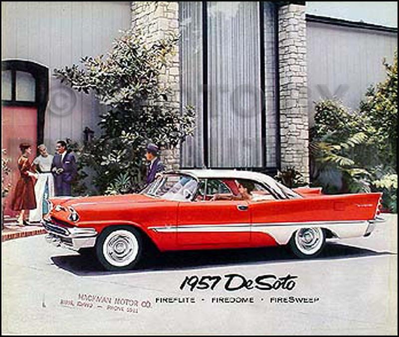 1957 DeSoto Original Color Sales Brochure De Soto