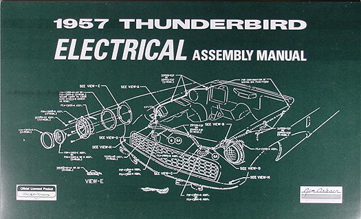 1957 Thunderbird Electrical Wiring Assembly Manual 57 Ford
