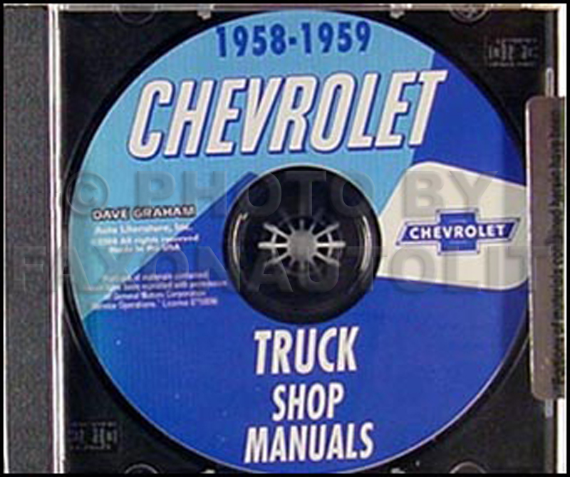 1958-1959 Chevrolet Pickup and Truck CD-ROM Shop Manual