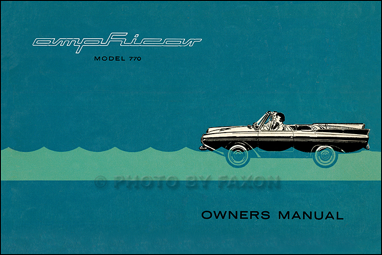 1961 1967 amphicar model 770 owners manual reprint rh faxonautoliterature com