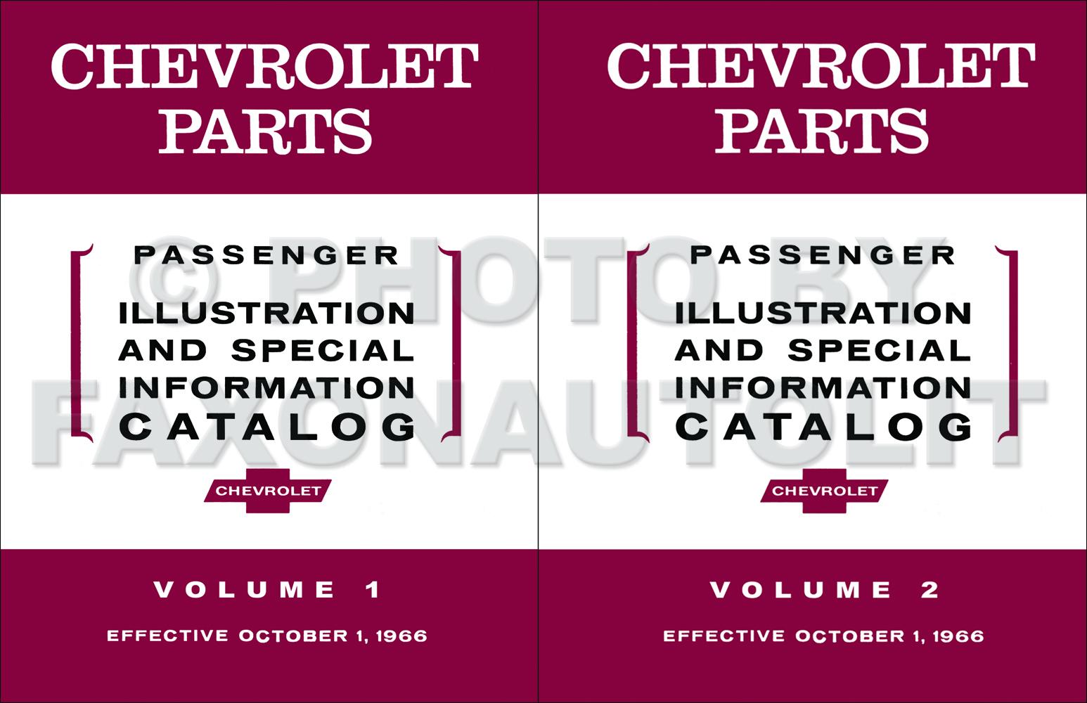 1958-1967 Chevrolet Car Parts Illustration and Special Information Catalog Reprint