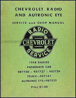 1958 chevy radio \u0026 autronic eye manual originalAutronic Eye Circuit Diagram Of 1958 Chevrolet #12