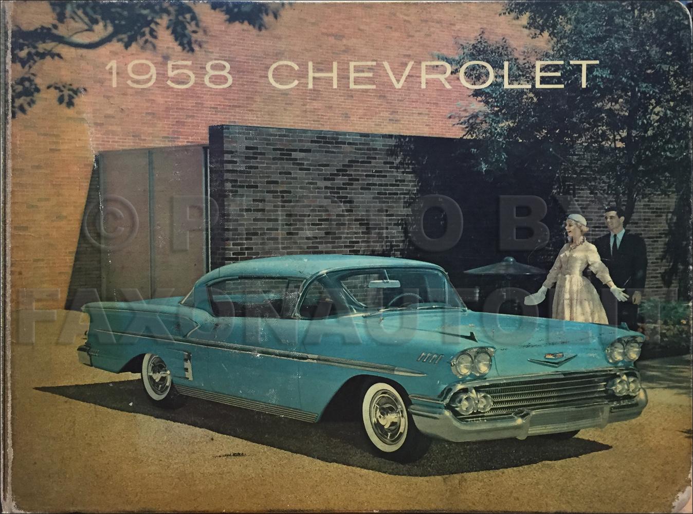 1958 Chevy Car Assembly Manual Biscayne Bel Air Impala El