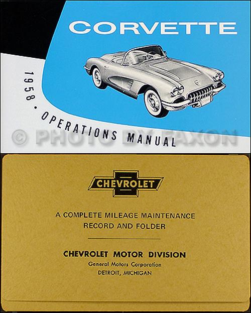 1953-1962 Chevrolet Corvette Wiring Diagram Manual Reprint
