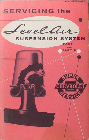 1958 Chevrolet Air Suspension Service Training Manual Original