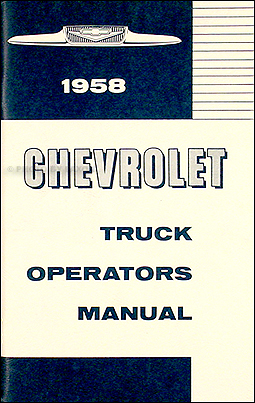 1958 Chevrolet Truck Wiring Diagram Manual Reprint