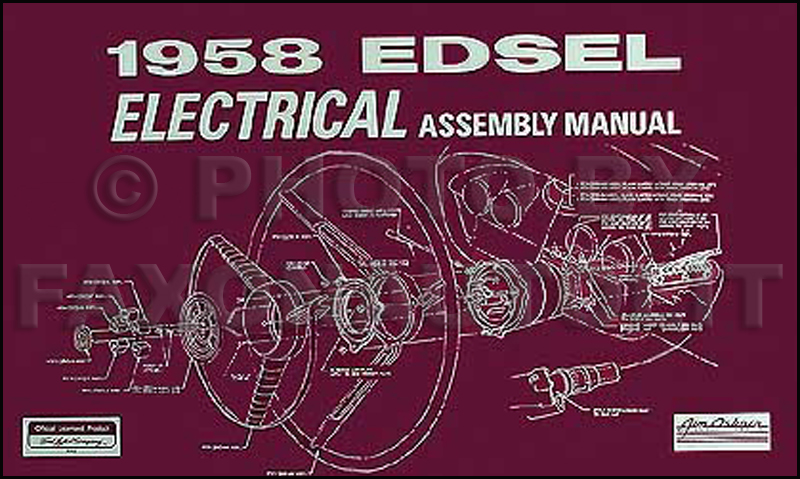 1958 edsel electrical assembly manual reprint1958 Ford Edsel Ranger On 1958 Edsel Citation Wiring Diagram For Ford #16