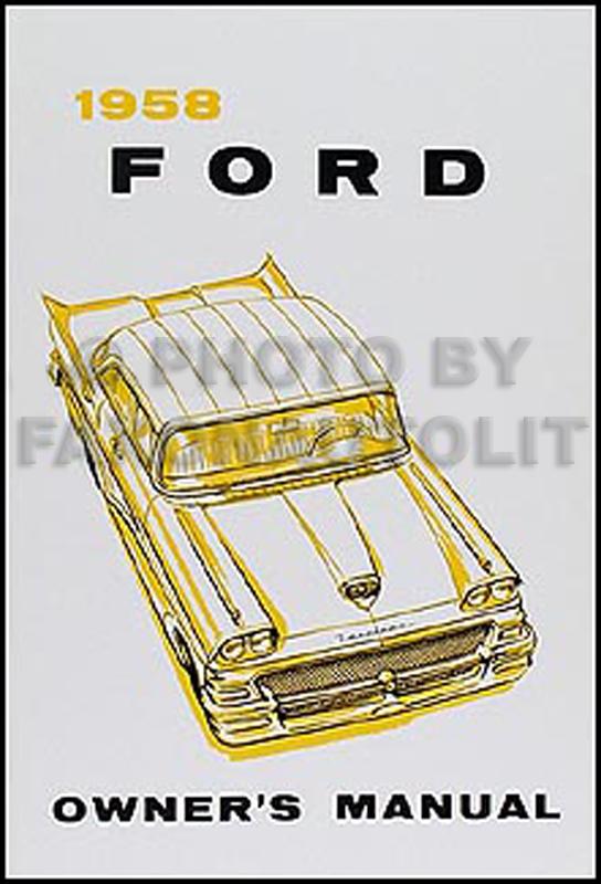 1958 Ford Car And Ranchero Wiring Diagram Manualrhfaxonautoliterature: 1958 Ford Wiring Diagram Manual At Elf-jo.com