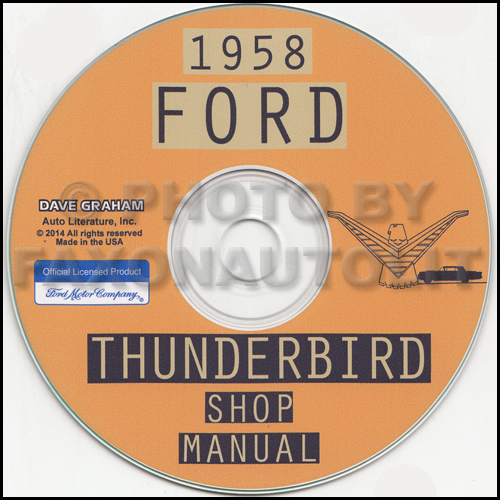 1958 Ford Thunderbird Cd Repair Shop Manual