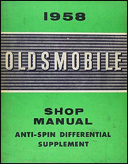 1958 oldsmobile anti spin differential original supplement. Black Bedroom Furniture Sets. Home Design Ideas