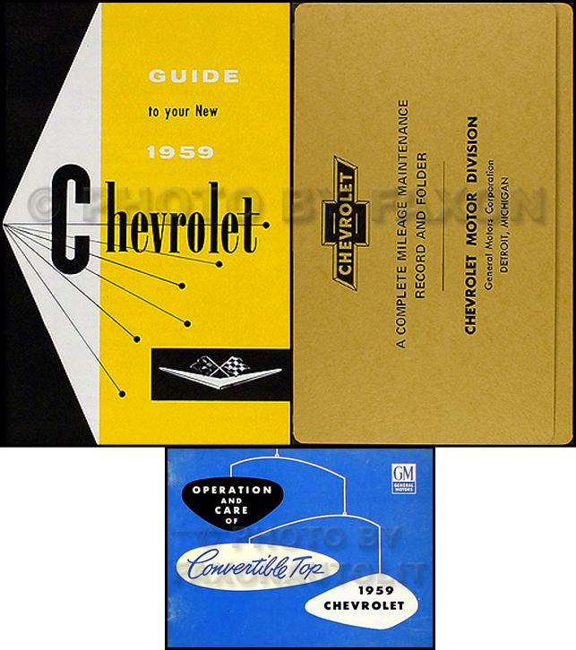 1959 Chevy Car Assembly Manual Biscayne Bel Air Impala El ...