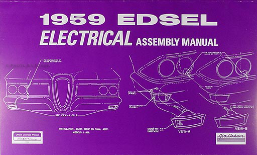 1959 edsel electrical wiring assembly manual reprint rh faxonautoliterature com 1957 Edsel 1963 Edsel