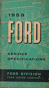1959 Ford Car and Ranchero Wiring Diagram Manual Reprint