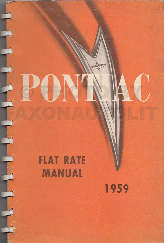 1959 Pontiac Body Manual Reprint 1958 Chieftain Wiring Diagram Flat Rate Original