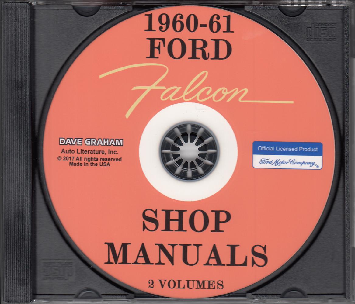 1960 1961 Ford Falcon Ranchero Cd Repair Shop Manual Wiring Diagram 1967 Mustang Fairlane Cougar Comet Cyclone