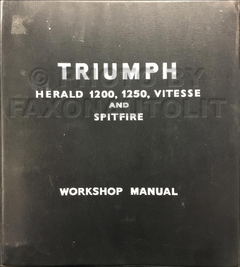1960 1963 Triumph Spitfire And Herald Repair Shop Manual Original