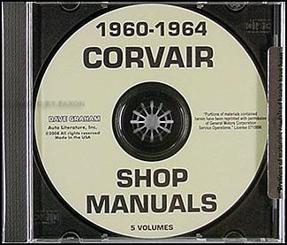 1962 1963 chevrolet corvair wiring diagram manual reprint 1960 1964 corvair cd rom repair shop manual
