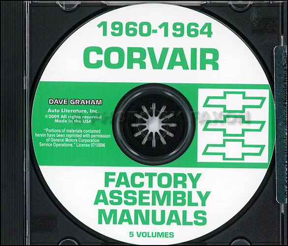 1962 1963 chevrolet corvair wiring diagram manual reprint 1960 1964 chevy corvair car assembly manuals on cd rom