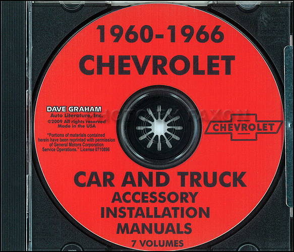 1960-1966 Chevrolet Car & Truck Accessory Installation Manuals on CD-ROM