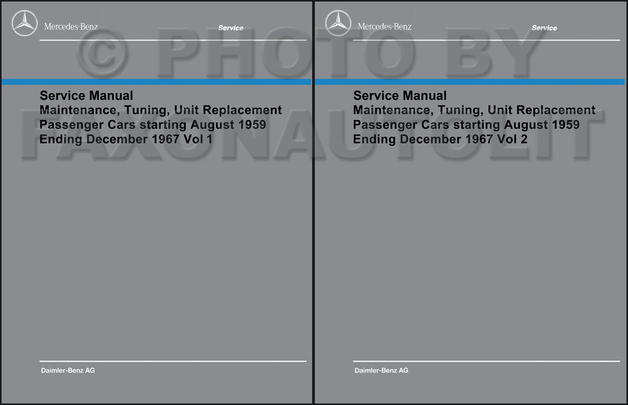 1960 1967 mercedes shop service manual maintenance reprint rh faxonautoliterature com mercedes benz w204 service manual mercedes benz service manual pdf