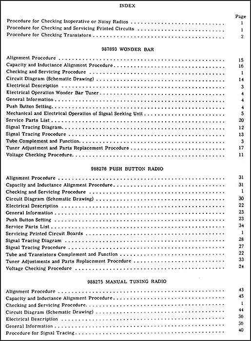 1960ChevRadio TOC1 1960 chevy radio manual original car, corvette & truck 1960 Chevy Wiring Diagram at fashall.co
